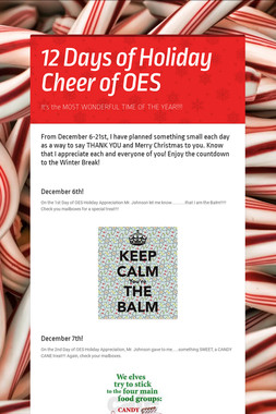 12 Days of Holiday Cheer of OES