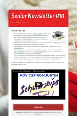 Senior Newsletter #10