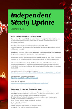 Independent Study Update