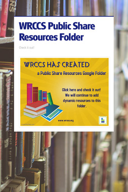 WRCCS Public Share Resources Folder
