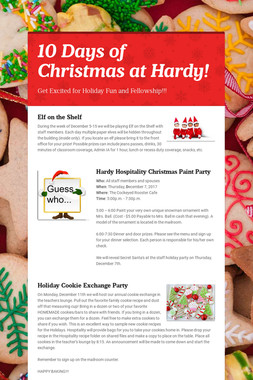 10 Days of Christmas at Hardy!