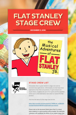 Flat Stanley Stage Crew