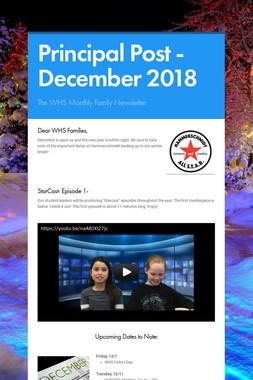Principal Post -December 2018