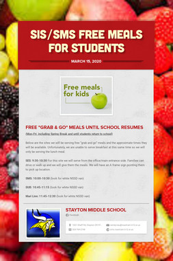 sis/sms free meals for students
