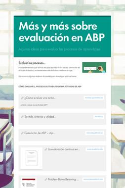 Más y más sobre evaluación en ABP