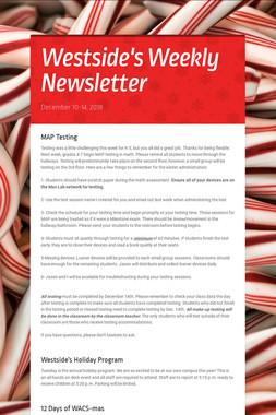 Westside's Weekly Newsletter