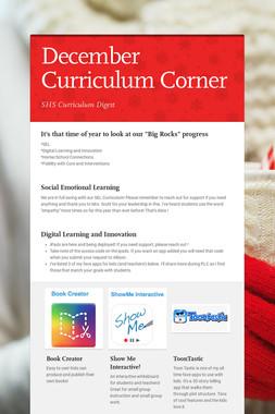 December Curriculum Corner
