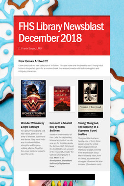 FHS Library Newsblast December 2018