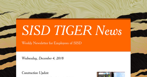 SISD TIGER News | Smore Newsletters for Education