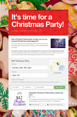It's time for a Christmas Party!