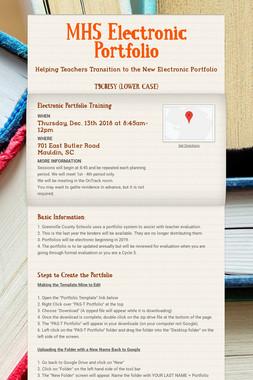 MHS Electronic Portfolio
