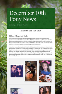 December 10th Pony News