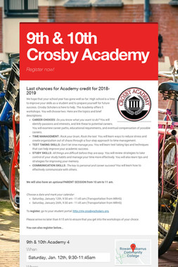 9th & 10th Crosby Academy