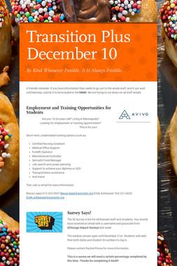 Transition Plus         December 10