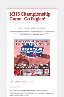 MHS Championship Game - Go Eagles!