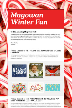 Magowan Winter Fun