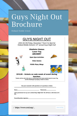 Guys Night Out Brochure