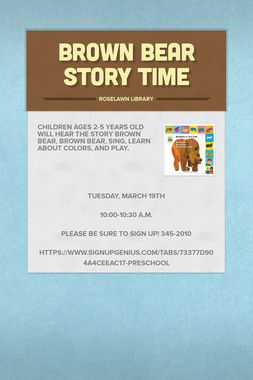 Brown Bear Story Time