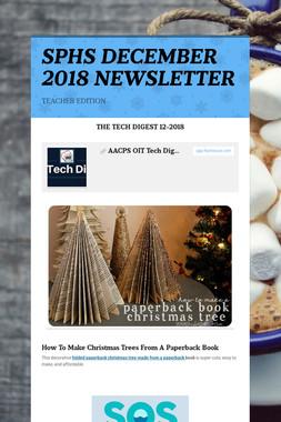 SPHS DECEMBER 2018 NEWSLETTER