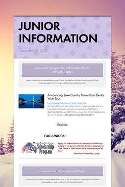 JUNIOR INFORMATION
