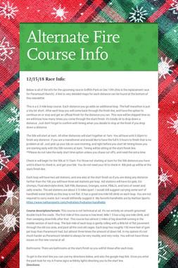 Alternate Fire Course Info