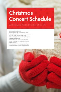 Christmas Concert Schedule