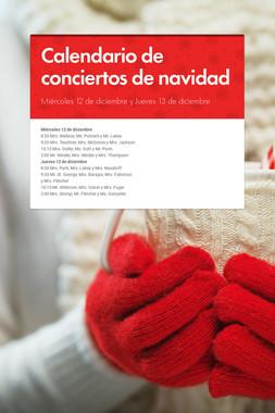 Calendario de conciertos de navidad