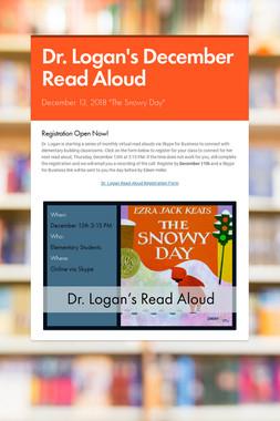 Dr. Logan's December Read Aloud