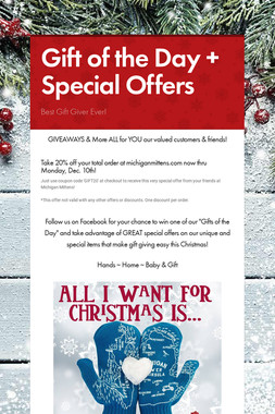 Gift of the Day + Special Offers