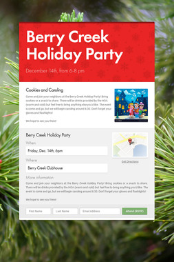 Berry Creek Holiday Party