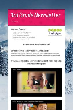 3rd Grade Newsletter