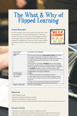 The What & Why of Flipped Learning