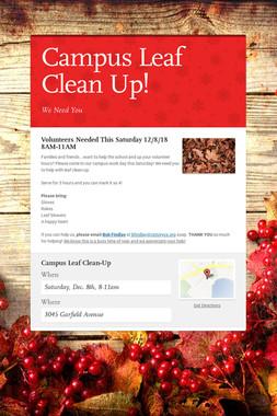 Campus Leaf Clean Up!