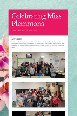 Celebrating Miss Plemmons