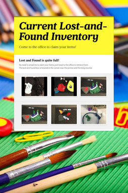 Current Lost-and-Found Inventory
