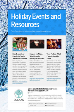 Holiday Events and Resources