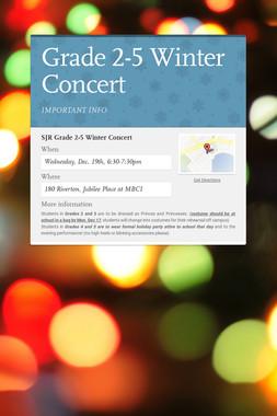 Grade 2-5 Winter Concert