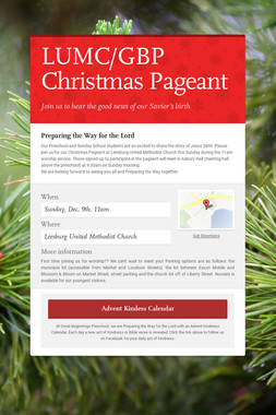 LUMC/GBP Christmas Pageant