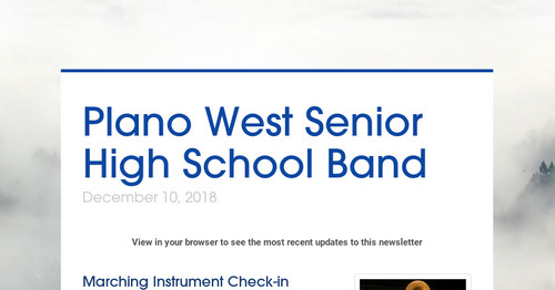 Plano West Senior High School Band   Smore Newsletters