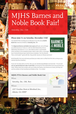 MJHS Barnes and Noble Book Fair!