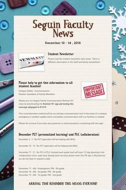 Seguin Faculty News