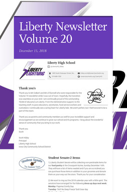 Liberty Newsletter Volume 20