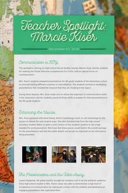 Teacher Spotlight: Marcie Kiser