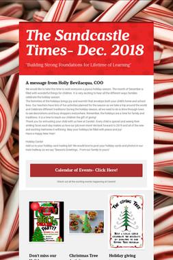 The Sandcastle Times- Dec. 2018