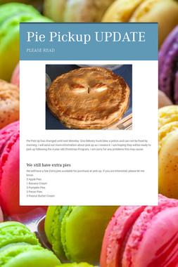 Pie Pickup UPDATE