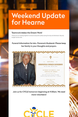 Weekend Update for Hearne