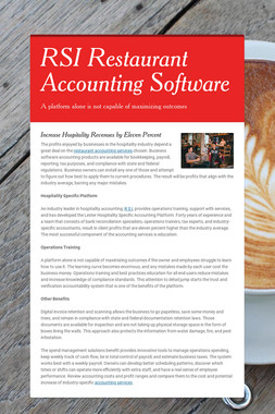 RSI Restaurant Accounting Software