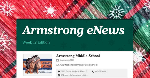 Armstrong eNews | Smore Newsletters