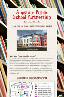 Appstate Public School Partnership