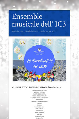 Ensemble musicale dell' IC3